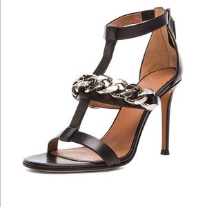 Givenchy Chain Link Mirtilla Sandals 38 black